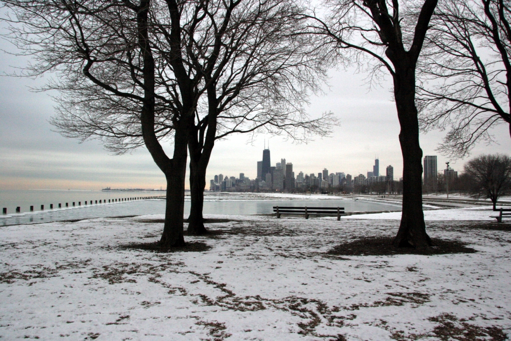 First Snow in Chicago 2011